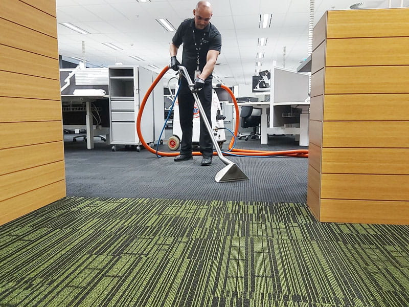 Cloverdale office carpet cleaning with blower