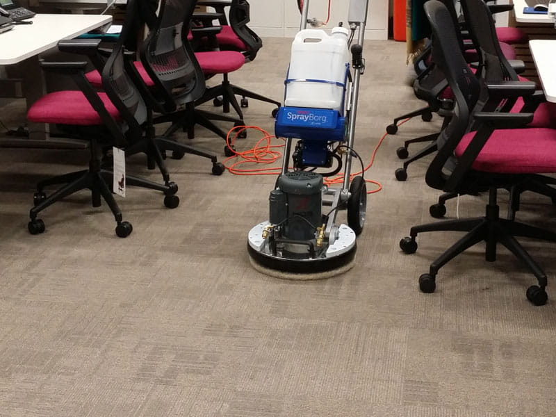 Cloverdale office carpet cleaning with machine