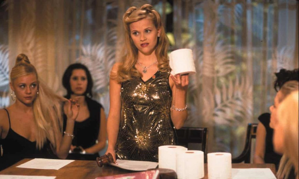 Reese Witherspoon in Legally Blonde knows the importance of quality bathroom consumables